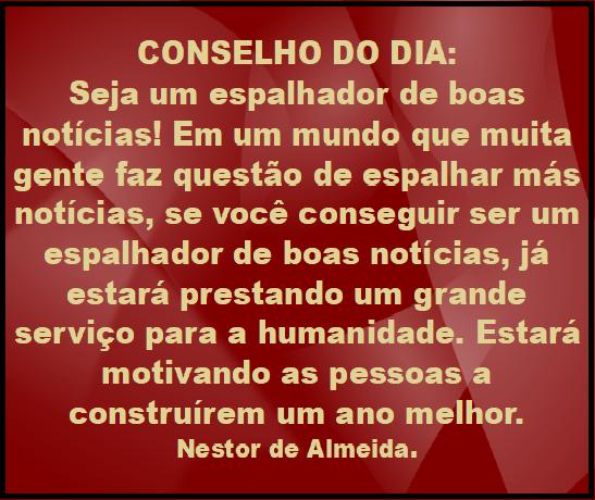 CONSELHO DO DIA 26/12/18