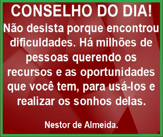 CONSELHO DO DIA 04/01/2019