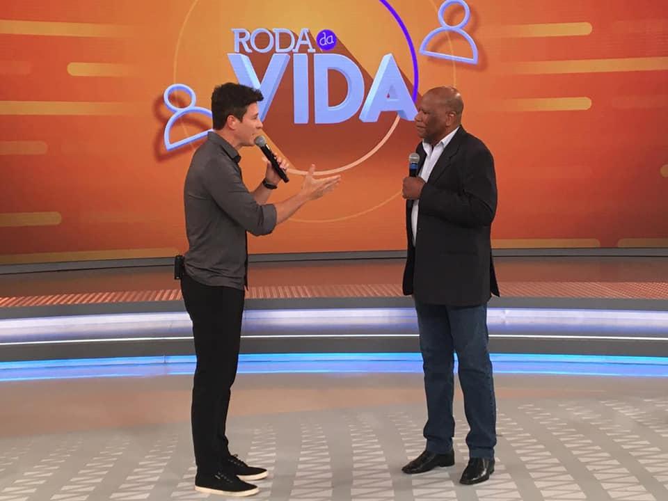 A minha vita na tela da TV RECORD,  no dia 08 de dezembro. No Rodrigo Faro.